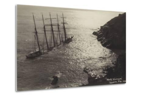Wreck of the Adolf Vinnen, the Lizard, Cornwall, February 1923--Metal Print