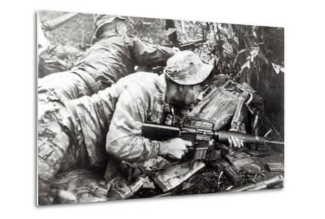 American Special Forces in Action in Vietnam, 1965--Metal Print