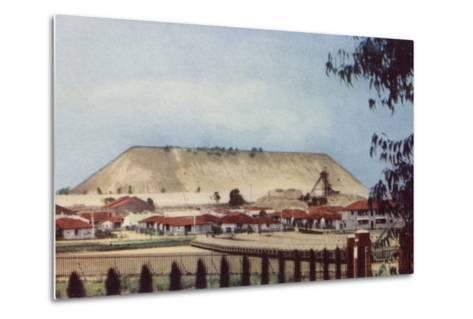 Postcard Depicting a General View of a Tailings Heap at a Mine--Metal Print