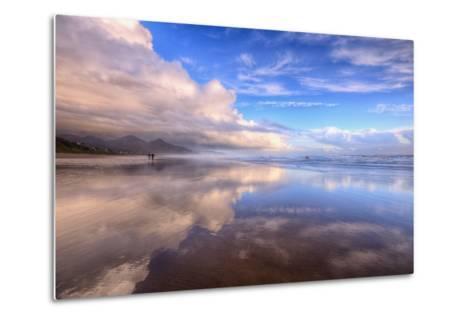 Beach Cloud Walk, Cannon Beach, Oregon Coast-Vincent James-Metal Print