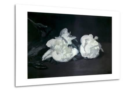 Branch of White Peonies and Secateurs-Edouard Manet-Metal Print