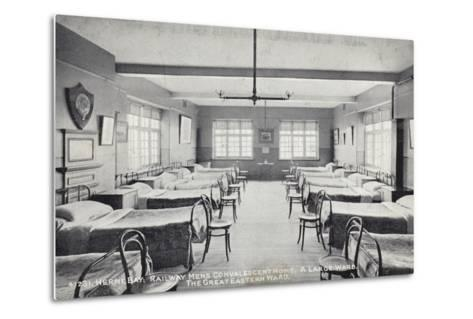Herne Bay, Railway Mens Convalescent Home, a Large Ward, the Great Eastern Ward--Metal Print