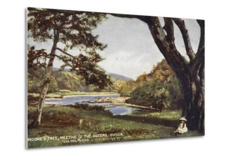 Moore's Tree, Meeting of the Waters, Ovoca, Via Holyhead and Kingstown the Royal Mail Route--Metal Print