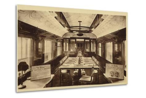 Railway Carriage in Which Was Signed the Armistice Treaty--Metal Print