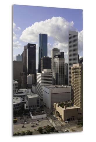 Downtown City Skyline, Houston, Texas, United States of America, North America-Gavin-Metal Print
