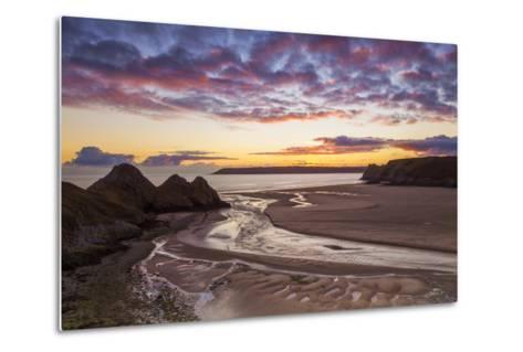Three Cliffs Bay, Gower, Wales, United Kingdom, Europe-Billy-Metal Print