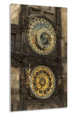 Astronomical Clock, Old Town Hall, Prague, Czech Republic, Europe-Angelo-Metal Print