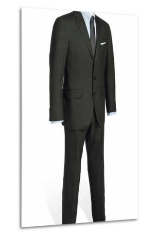 Two-Piece Serge Suit with Light Blue Rope-Stripe, Worn by Daniel Craig in the Film 'Skyfall', 2012--Metal Print