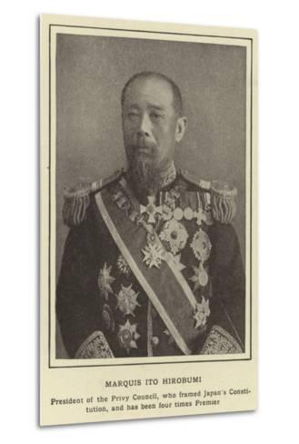 Marquis Ito Hirobumi--Metal Print