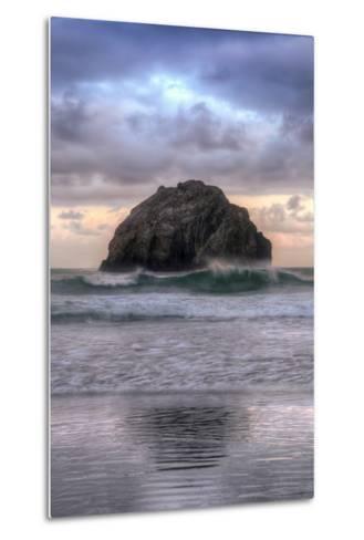 Sunset at Face Rock, Bandon, Oregon Coast-Vincent James-Metal Print