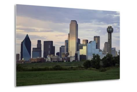 Dallas City Skyline and the Reunion Tower, Texas, United States of America, North America-Gavin-Metal Print