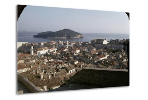 View of the City and the Harbour from the Minceta Tower--Metal Print