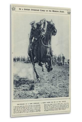 At a British Divisional Camp on the Western Front--Metal Print