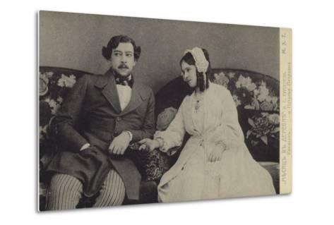 Constantin Stanislavski and Olga Knipper, Russian Actors--Metal Print