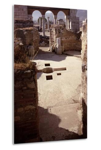 Baptistery, and View Towards the Nave, Probably 4th/5th Century--Metal Print