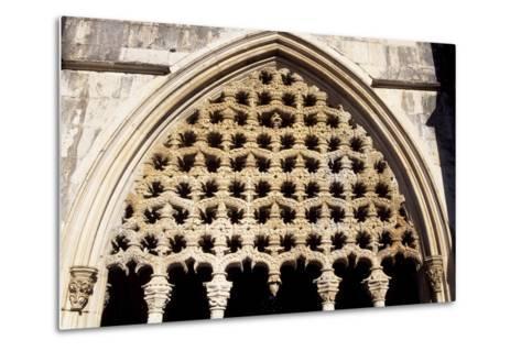 Detail of Royal Cloister in Batalha Monastery, Batalha--Metal Print