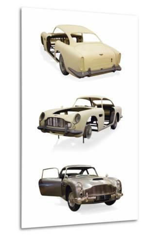 Post-Production 1/3 Scale Replica Miniature Model of the Aston Martin DD5 Used in 'Skyfall'--Metal Print