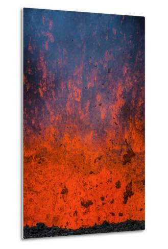 Active Lava Eruption on the Tolbachik Volcano, Kamchatka, Russia, Eurasia-Michael-Metal Print