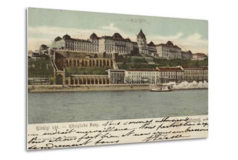 Postcard Depicting the Hungarian Parliament Building--Metal Print