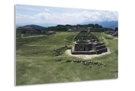 Astronomical Observatory or Building J, Archaeological Site of Monte Alban--Metal Print