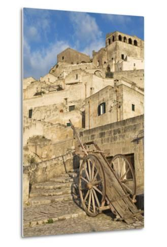 Old Cart in the Sassi Area of Matera, Basilicata, Italy, Europe-Martin-Metal Print