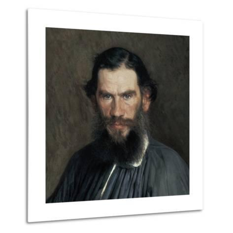 Leon Tolstoy-Ivan Nikolaevic Kramskol-Metal Print