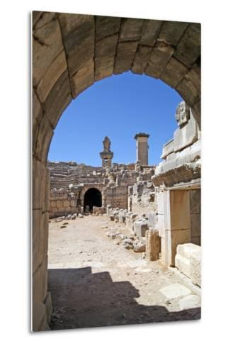 View Through the Vaulted Entrance of the Xanthos Theatre into the Orchestra Pit--Metal Print