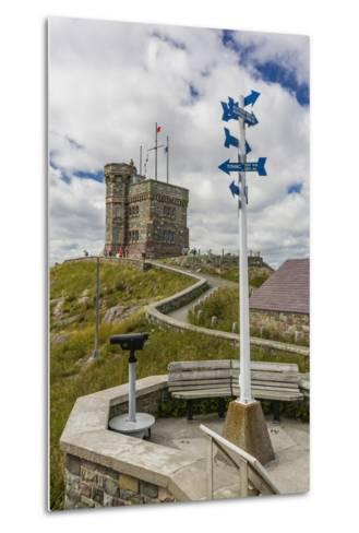 Cabot Tower, Signal Hill National Historic Site, St. John'S, Newfoundland, Canada, North America-Michael Nolan-Metal Print