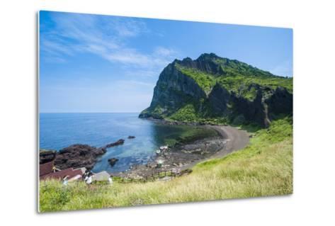 Ilchulbong Tuff Cone, Sunrise Peak, Island of Jejudo, UNESCO World Heritage Site, South Korea, Asia-Michael Runkel-Metal Print