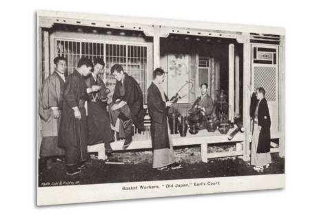 Basket Workers, Old Japan Exhibition, Earl's Court, London, 1907--Metal Print