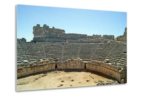 View of the Xanthos Theatre from the Top Seating Tier, Xanthos, Turkey--Metal Print