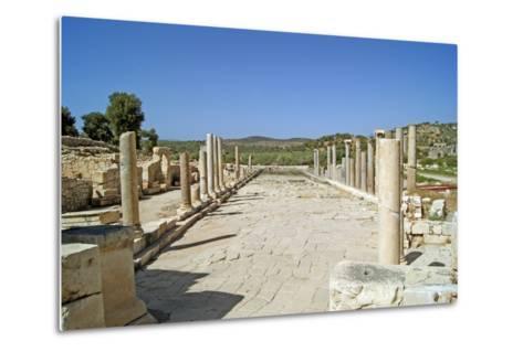 View of the Partially Restored Main Street of Patara, Turkey--Metal Print