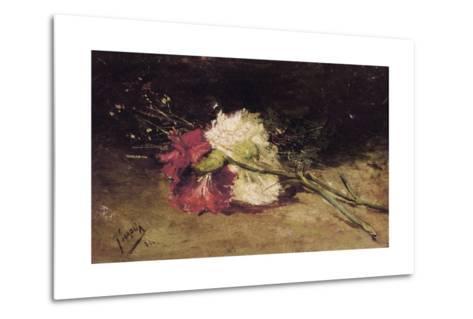 Carnations-Joaqu?n Sorolla y Bastida-Metal Print