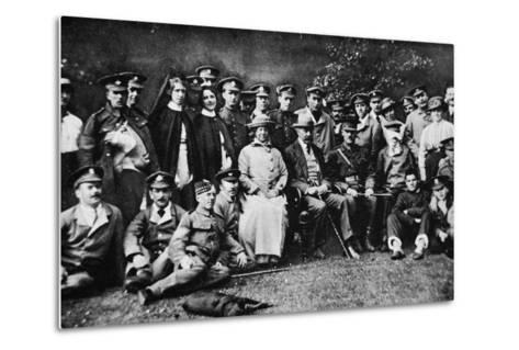 K. of K. Plays the Host: Lord Kitchener Entertains a Number of Wounded Soldiers at Broome Park--Metal Print