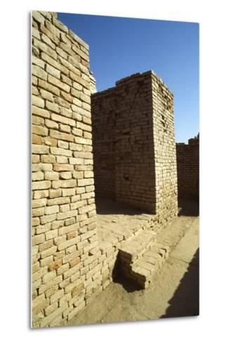 House Entrance with Steps and Sloping Walls in the Lower Town of the Mohenjo Daro--Metal Print