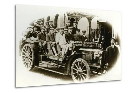 Men Only Coach Outing from the Harbour Hotel, Folkestone, C.1905--Metal Print