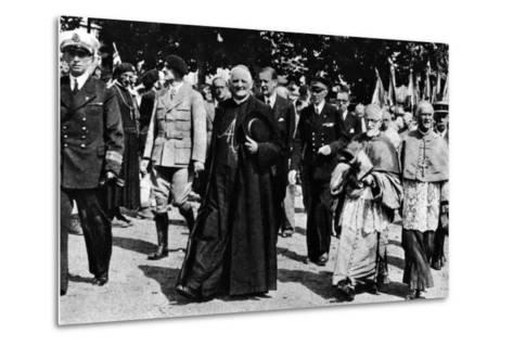 Cardinal Pierre-Marie Gerlier During a Vichy Parade, C.1940-44--Metal Print
