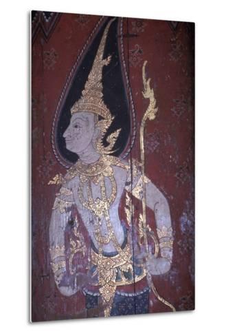Mural Painting in Wat Suwan Dararam Temple in Ayutthaya--Metal Print
