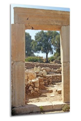 View Through the Northern Gate of the Agora, Patara, Turkey--Metal Print