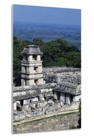 Palace Observation Tower in the Palace Complex, Archaeological Site of Palenque--Metal Print