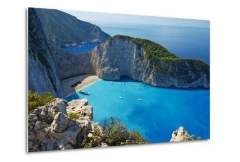 Shipwreck Beach, Zante Island, Ionian Islands, Greek Islands, Greece, Europe-Tuul-Metal Print