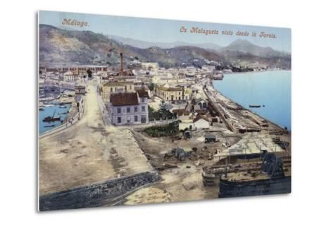 District of La Malagueta Viewed from the Lighthouse, Malaga, Spain--Metal Print