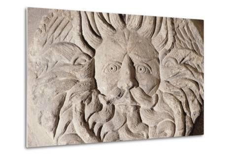 Relief with Gorgon's Head, Temple of Sulis Minerva, Roman Baths--Metal Print