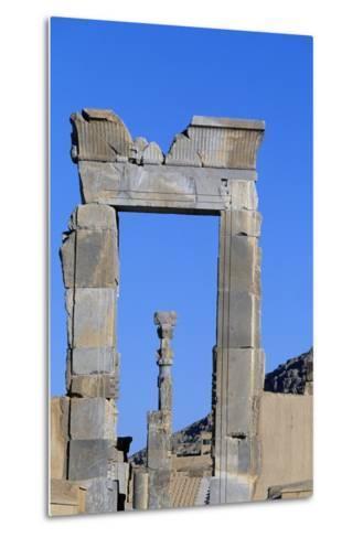 One of Doors to Throne Room or Room of Hundred Columns, Persepolis--Metal Print
