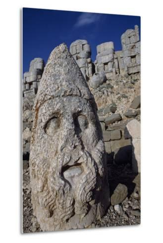 Colossal Head, Tomb of King Antioch I of Commagene, East Terrace, Nemrut Dagi--Metal Print