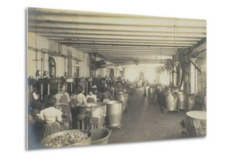 Pressing Room, from 'Industrie Des Parfums a Grasse', C.1900--Metal Print