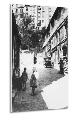 The Bateau-Lavoir, View of the Street, Montmartre, Paris, C.1950--Metal Print