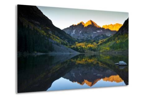 Gorgeous Fall Sunrise at Maroon Bells, Aspen, Colorado-Brad Beck-Metal Print