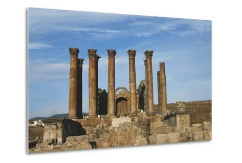 Jordan, Jerash, Temple of Artemis-Claudia Adams-Metal Print