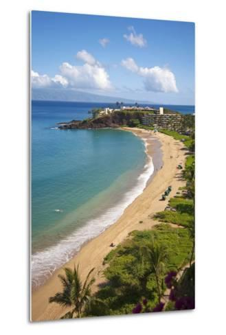 Sheraton Maui Resort and Spa, Kaanapali Beach, Famous Black Rock known for it's Snorkeling-Ron Dahlquist-Metal Print
